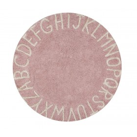 Round ABC Vintage Nude-Natural skalbiamas kilimas