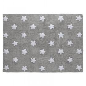 Stars skalbiamas kilimas Grey-White