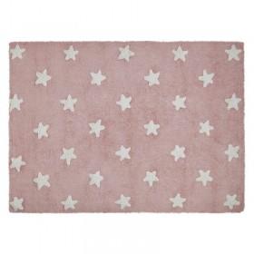 Stars skalbiamas kilimas Pink-White