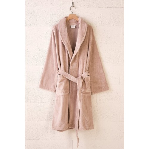 Prabangus Vonios chalatas ROYAL TOUCH MISTY PINK (FOR BATHROBES)