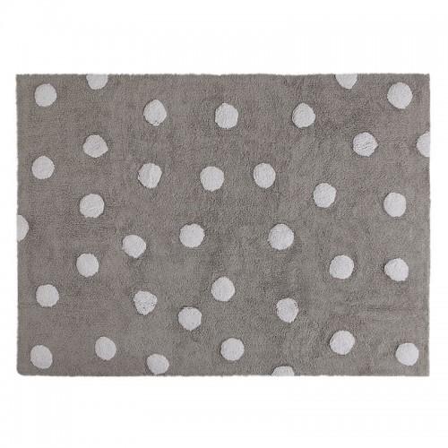 Polka Dots skalbiamas kilimas Grey-White