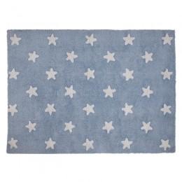 Stars skalbiamas kilimas Blue -White