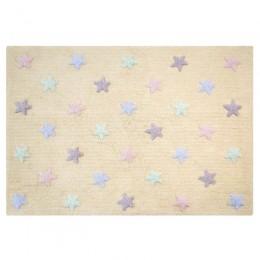 Stars skalbiamas kilimas Tricolor Stars - Vanilla