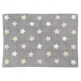 Stars skalbiamas kilimas Tricolor Stars Grey-Pink