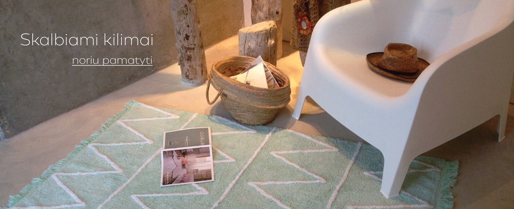 Lorena Canals skalbiami kilimai